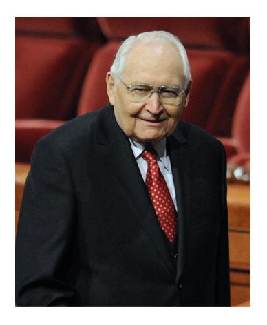 Elder L. Tom Perry at General Conference