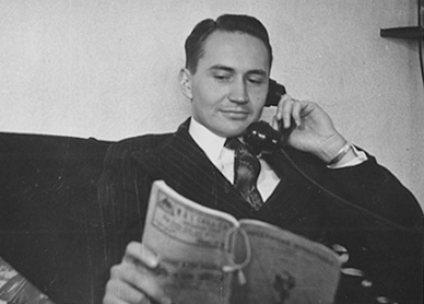 L. Tom Perry on Phone