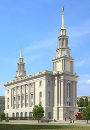 architectural rendering of temple