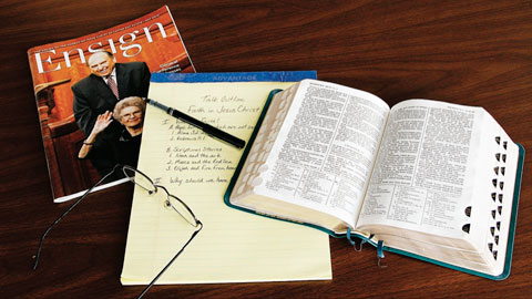 scriptures and magazine