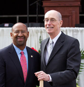 president eyring and philadelphia mayor groundbreaking