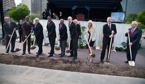 Philadelphia temple groundbreaking