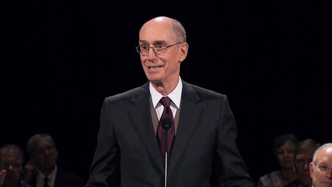 President Eyring at BYU Broadcasting building dedication