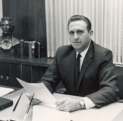 President Monson Black And White
