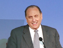 President Monson speaking at mission president seminar 2011