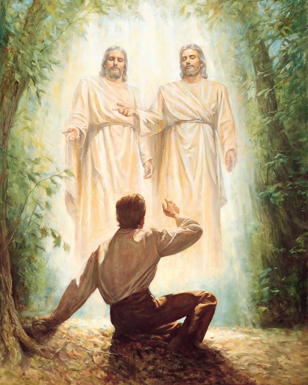 The Father and the Son appear to Joseph Smith in the Sacred Grove