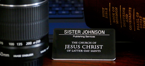 Missionary tag and camera lens