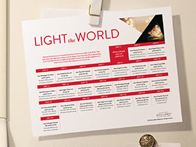 Light the World calendar