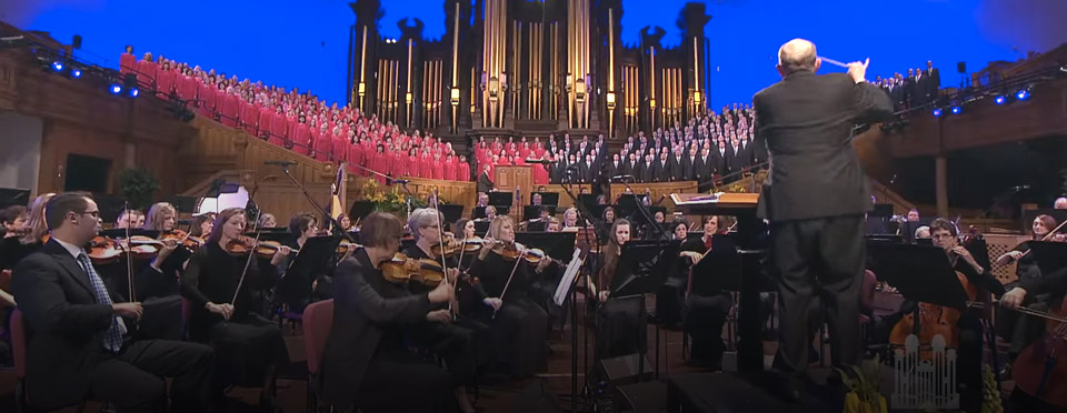 Mormon Tabernacle Choir in the tabernacle