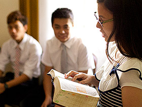 youth in Sunday school class