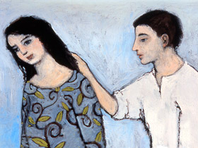 painting of a man and woman