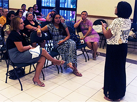 classroom of students