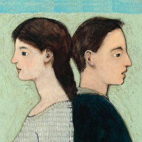 painting of husband and wife