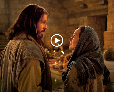 The Savior talking to a woman