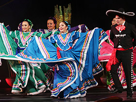 latino folk dancers