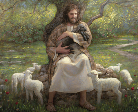 The Savior holding a lamb