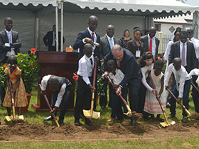 Ivory Coast Temple ground breaking