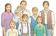 Illustration of Joseph Smith and his family