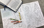Coloring book and scriptures