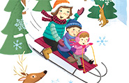 Kids on a sled