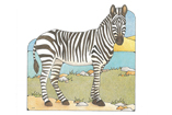 Primary Cutout Illustration Zebra