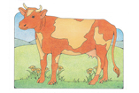Primary Cutout Illustration Cow