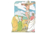 Primary Cutout Illustration Crucifixion