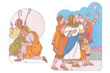 Primary Cutout Illustration Shepherds and Nephites