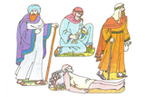 Primary Cutout Illustration Good Samaritan