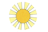 Primary Cutout Illustration Sun