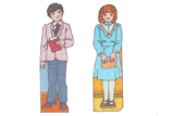 Primary Cutout Illustrations Boy and Girl