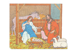 Primary Cutout Illustration Birth of Christ
