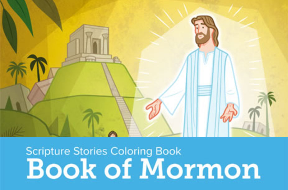 Scripture Stories Coloring Book Book Of Mormon