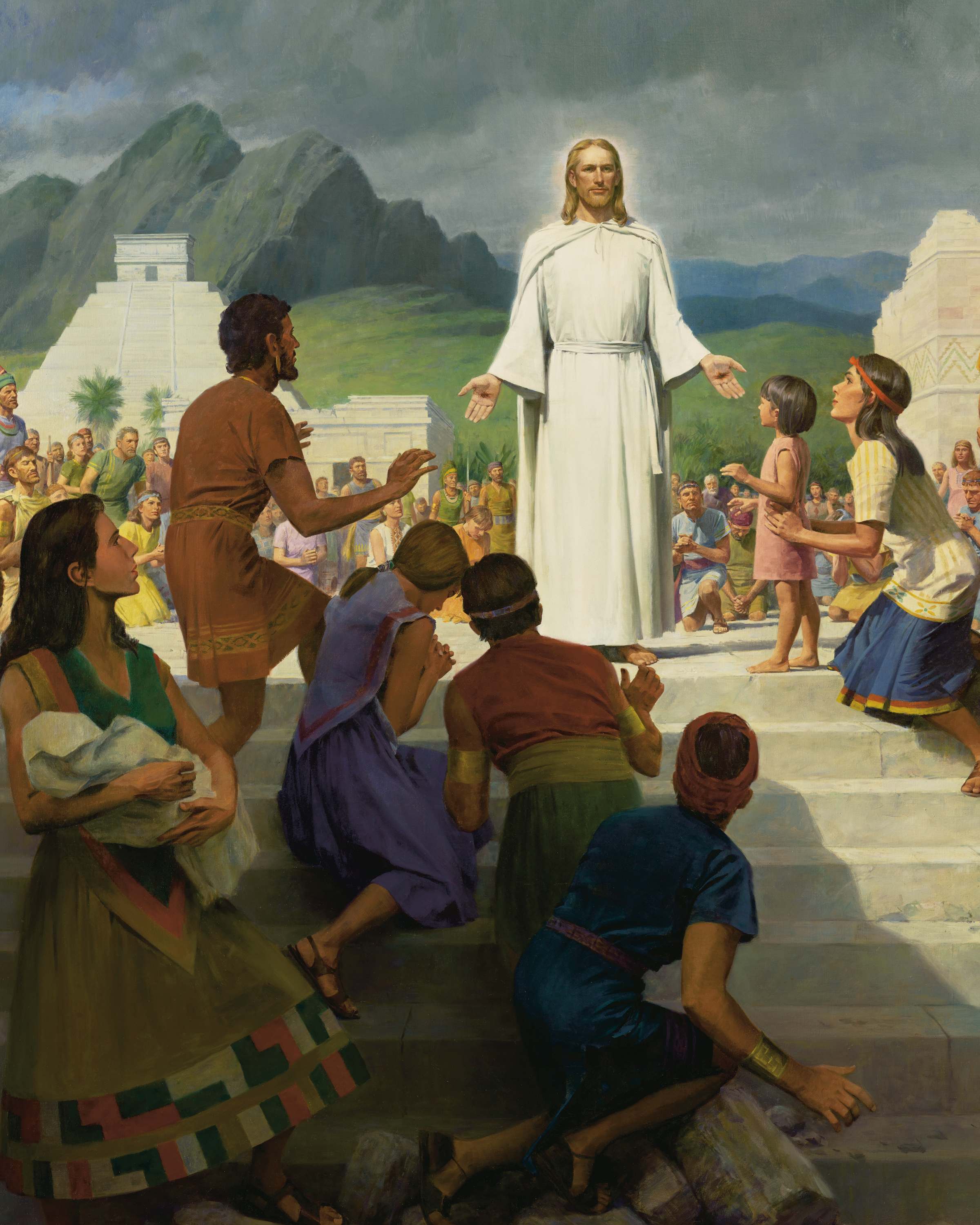 detail from jesus christ visits the americas