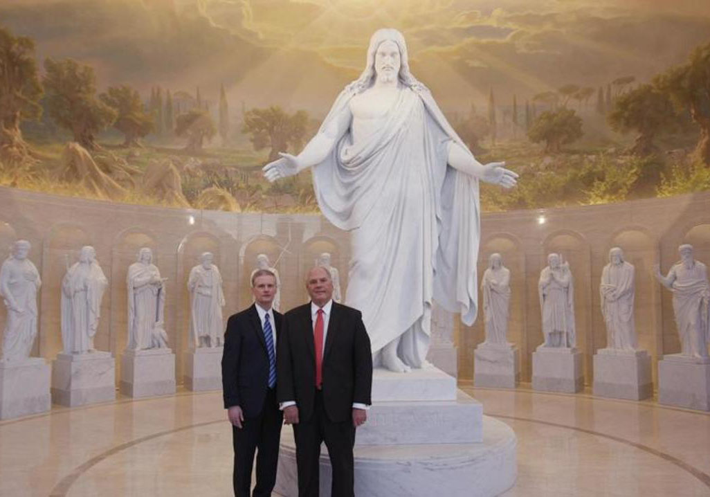 Two Apostles standing in Rome Temple