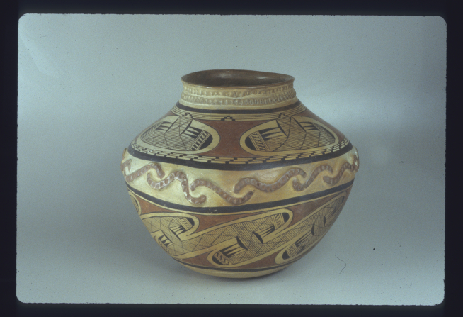 A photograph of a clay pot.