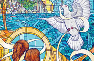 stained glass window mural