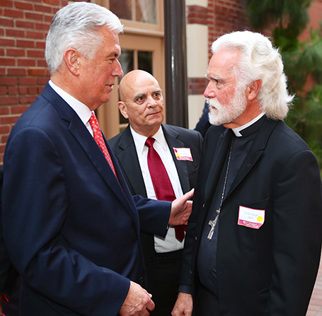 Pres Uchtdorf greeting leaders