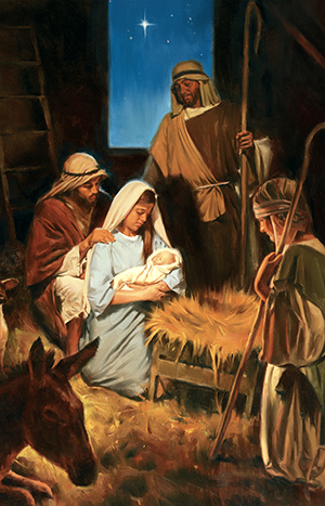 Illustration of the birth of Jesus Christ