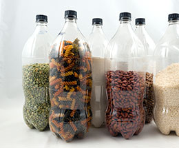 food in bottles