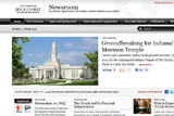 Screenshot of Mormonnewsroom.org