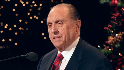 President Monson at Christmas Devotional 2010