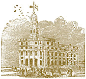 engraving of Nauvoo Temple