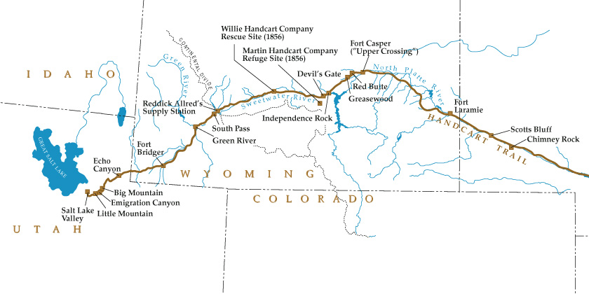 Map of Mormon Trail
