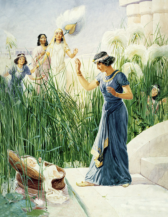 Moses Found in the Bulrushes by Pharaoh's Daughter