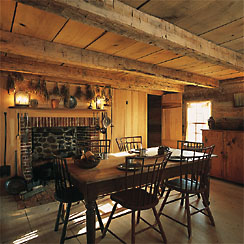 The kitchen in the log house