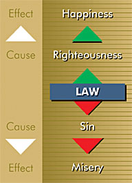 Righteousness leads to happiness, and sin leads to misery