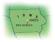 Map of Ames, Iowa