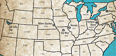 Far West Missouri Map.From New York To Utah Seven Church Headquarters