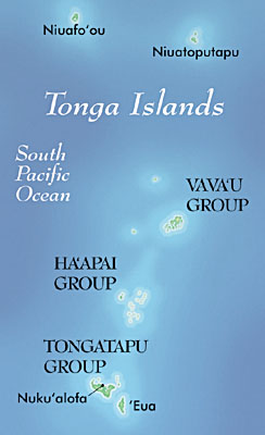 Map of the Tonga Islands